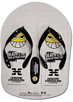 Deadman Wonderland Flip Flop Slippers - Smile Face Pattern WHITE (Size 28C)