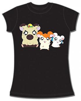 Hamtaro T-Shirt - Hamtaro, Boss & Bijou (Junior S)