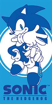 Sonic The Hedgehog Towel - Sonic Blue and White