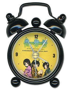 Nisemonogatari Desk Clock Mini - Karen, Tsukihi and Tsubasa