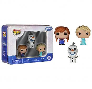 Frozen Pocket POP! Vinyl Figures - Anna, Elsa and Olaf (Display of 3) (Disney)