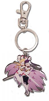 World Conquest Zvezda Key Chain - White Light Metal