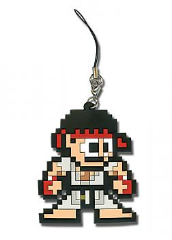 Street Fighter IV Phone Charm - Ryu 8-Bit