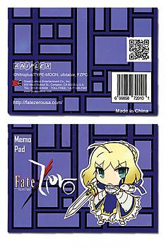 Fate/Zero Memo Pad - Chibi Saber