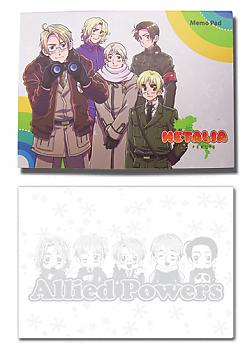 Hetalia Memo Pad - Allied Powers