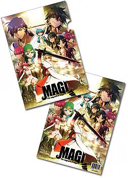Magi The Labyrinth of Magic File Folder - Key Art