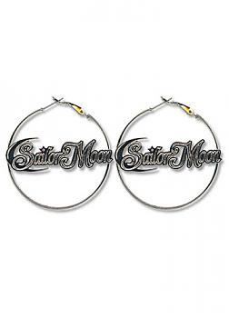 Sailor Moon Earrings - Sailor Moon Logo Hoop