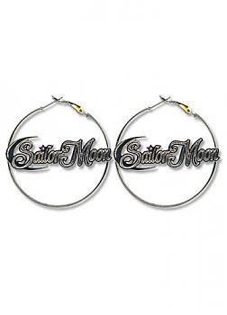 Sailor Moon Earrings - Sailor Moon Logo Hoop