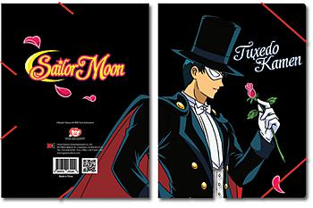 Sailor Moon Elastic Band File Folder - Tuxedo Mask Emblem