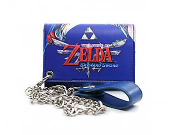 Zelda Wallet - Blue Key Art w/ Chain