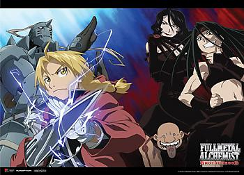 FullMetal Alchemist Brotherhood Wall Scroll - Elrics Vs. Homunculus [LONG]