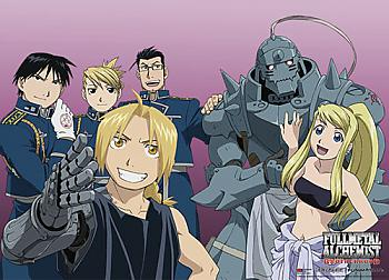 FullMetal Alchemist Brotherhood Wall Scroll - Happy Cast [LONG]
