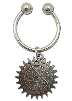 Black Butler Key Chain - Metal Pentacle