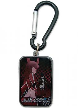 Black Rock Shooter Key Chain - Gold Saw Rectangle