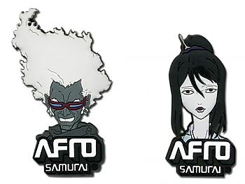 Afro Samurai Pins - Ninja Ninja and Okiku (Set of 2)