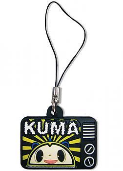 Persona 4 TV Phone Charm - Kuma on TV