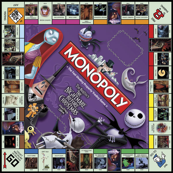 Nightmare Before Christmas Board Games - Monopoly Collector's ...