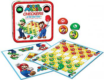 Nintendo Board Games - Checkers and Tic Tac Toe Collector's Edition (Super Mario)