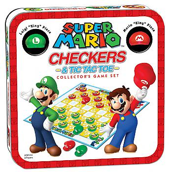 Nintendo Board Games - Checkers and Tic Tac Toe Collector's Edition (Super Mario)
