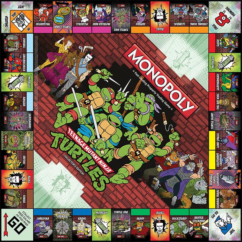 Teenage mutant ninja turtles board games monopoly collector s
