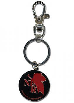 Evangelion Key Chain - Metal NERV Logo