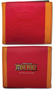 One Piece Bifold Wallet - Straw Hats Jolly Roger Red