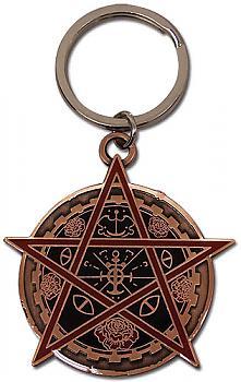 Trinity Blood Key Chain - Rosen Creuz Order Emblem