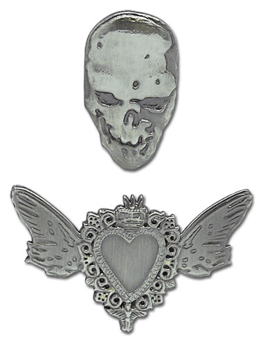Death Note Pins - Heart and Skull (Set of 2) @Archonia_US
