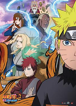 Naruto Shippuden Wall Scroll - Naruto & Kages