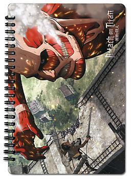 Attack on Titan Notebook - Eren Vs. Colossal