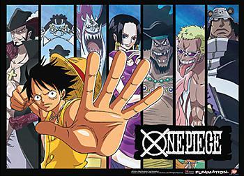 One Piece Wall Art - Luffy & Shichibukai [LONG]