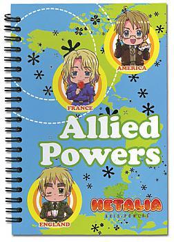 Hetalia Notebook - Allied Powers