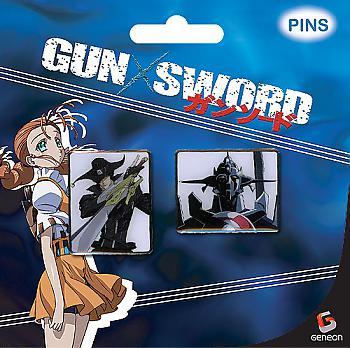 Gun X Sword Pins - Van and Dann (Set of 2)