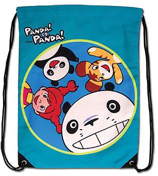 Panda! Go Panda! Drawstring Backpack - Greeting