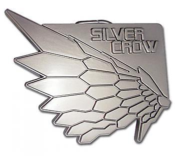 Accel World Belt Buckle - Silver Crow