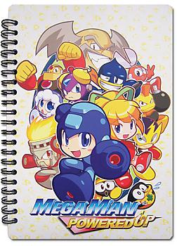 Mega Man Powered Up Notebook - Group