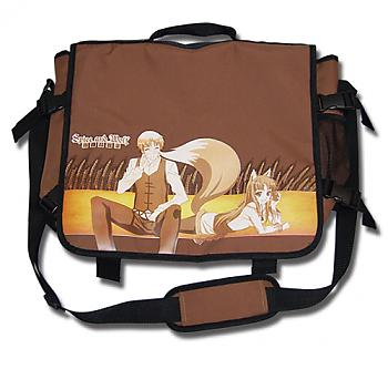 Spice and Wolf Messenger Bag - Kraft and Holo
