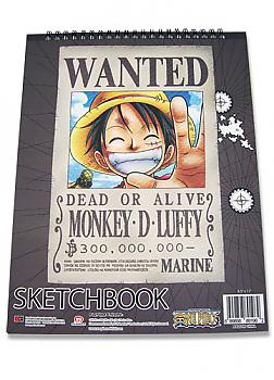 One Piece Notebook - Luffy Wanted Sketchbook