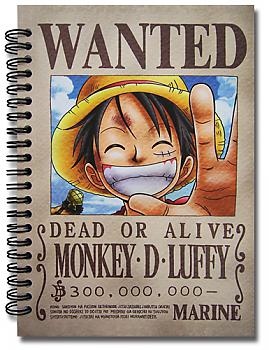 One Piece Notebook - Luffy Wanted
