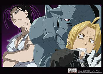 Fullmetal Alchemist Brotherhood Wall Scroll - Izumi w/ Al & Ed Scared [LONG]