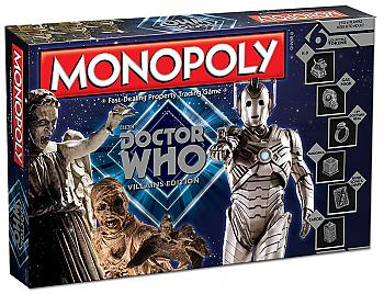 Doctor Who Board Games - Villains Monopoly Collector's Edition