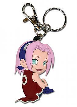 Naruto Key Chain - Chibi Sakura (Crouching)