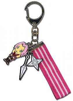 Naruto Shippuden Key Chain - Metal Sakura and Weapons