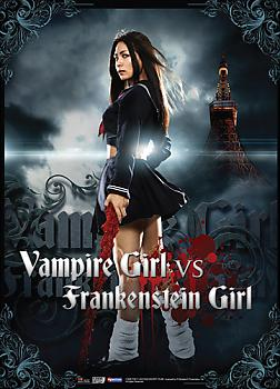 Vampire Girl vs Frankenstein Girl Wall Scroll