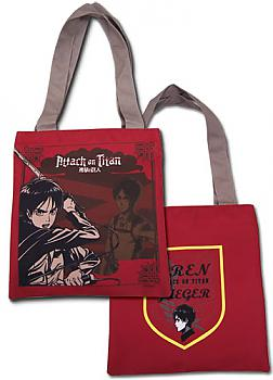 Attack on Titan Tote Bag - Eren Red