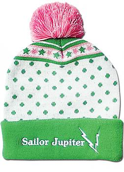 Sailor Moon Beanie - Sailor Jupiter Pom