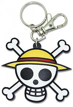 One Piece Key Chain - Straw Hat Pirates Skull Logo