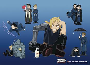 FullMetal Alechmist Brotherhood Wall Scroll - Group 8 [LONG]