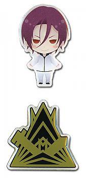 Free! Pins - SD Rin & Samezuka Emblem Set