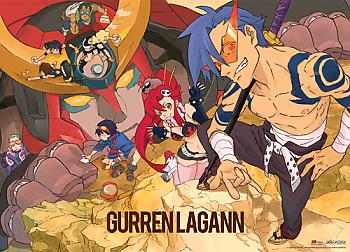 Gurren Lagann Wall Scroll - Group [LONG]